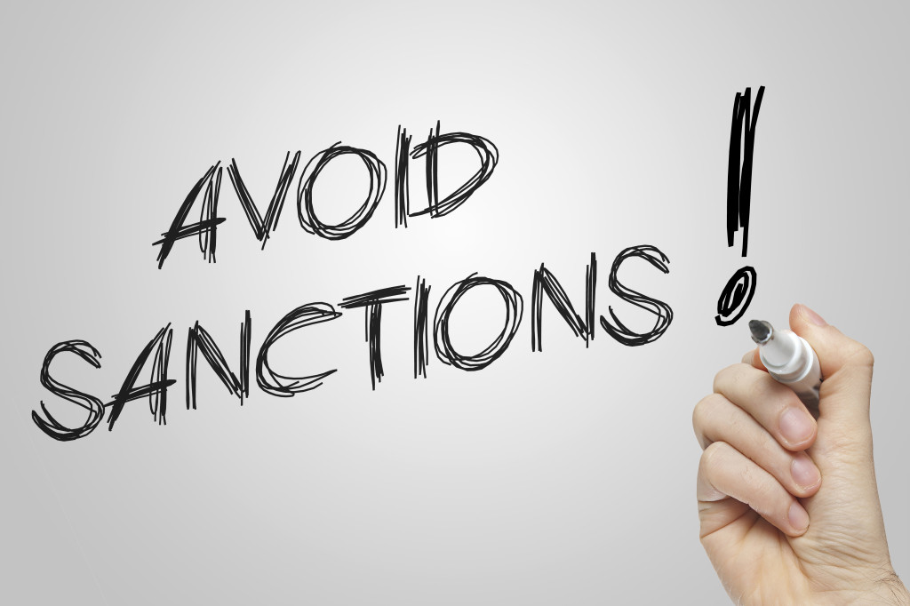Hand writing avoid sanctions